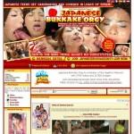 Dump premium japanese bukkake orgy