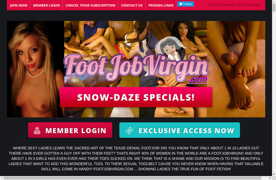 Logins premium footjobvirgin.com