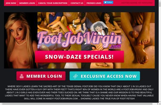 Logins premium footjobvirgin.com