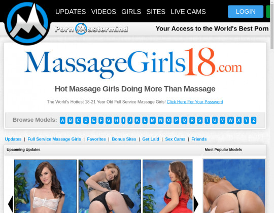 Massagegirls18 mobile passwords August 2019