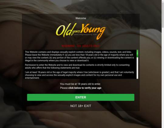 Old goes young passwords September 2019