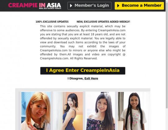 Creampie in asia premium members
