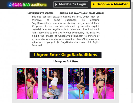 Gogo bar auditions passwords December 2019