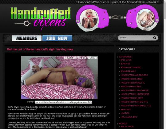 Free premium Handcuffed vixens
