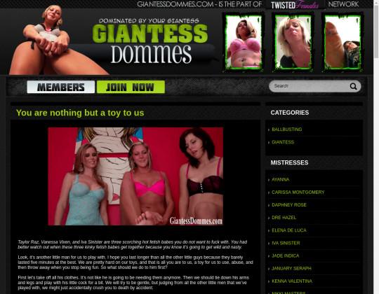 New premium Giantess dommes