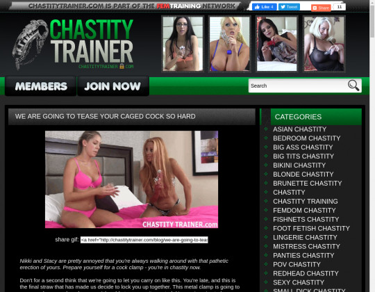 Fresh premium Chastity trainer