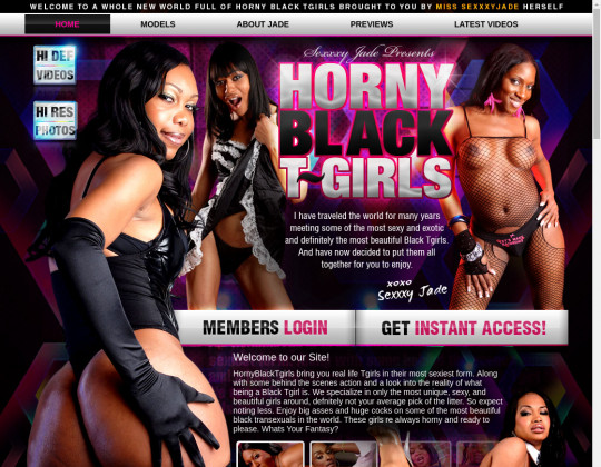New premium Horny black tgirls