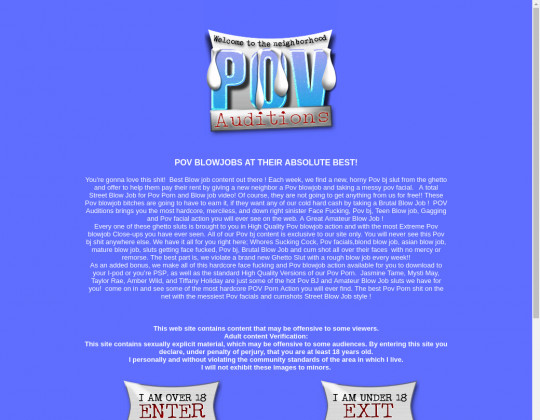 Pov-auditions.com full premium May 2020