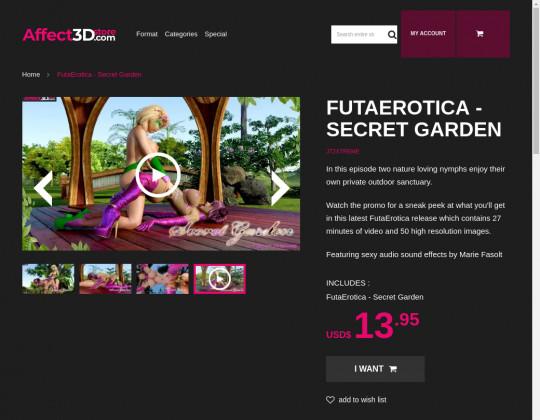 Futaerotica – secret garden passwords September 2021